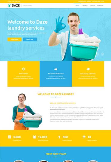 laundry-蓝黄分明