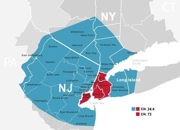 Sinovision覆盖地区地图